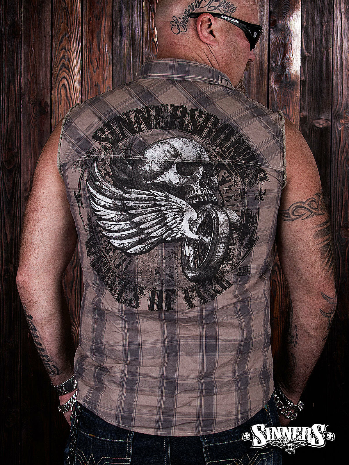 Bikers Harley Davidson Shirt without sleeves  WHEELS of FIRE  S-5XL