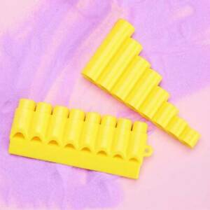 Mini Plastic Woodwind Pan Flute Removable Panflutes Pan Pipes Musical 8 Pipes KS