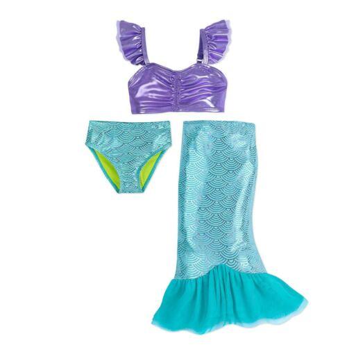 Disney Store Ariel Swimsuit Skirt Deluxe 3 pc Little Mermaid 4,5//6,7//8,9//10 NWT