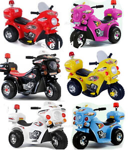 kinder elektro polizei motorrad fahrzeug kindermotorrad. Black Bedroom Furniture Sets. Home Design Ideas