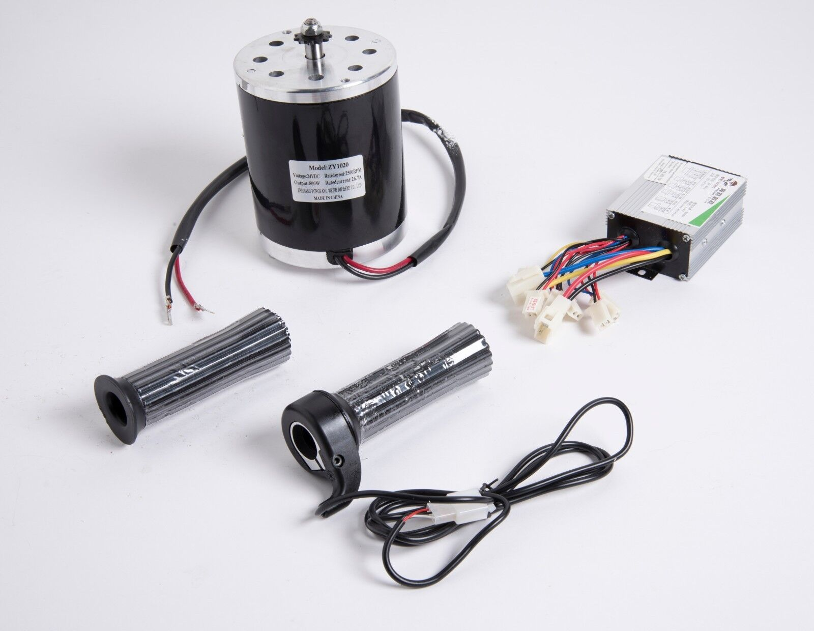 500 W 36 V DC electric 1020 motor kit w speed control & Throssotle f scooter ebike