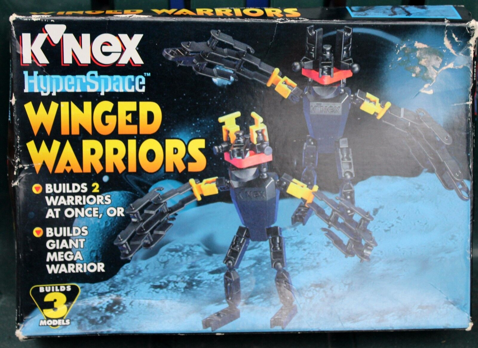 NEW RARE KNEX HYPER SBACE WINGED WARRIORS BUILD & BATTLE GIANT MEGA TOY 8+ FREE