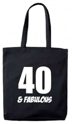 40 And Fab Tote Bag 40th birthday gifts presents for her women mum wife ladies