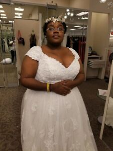Details About Ivory Plus Size Wedding Gowns 24