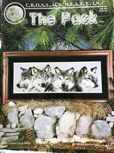 The-Pack-Gray-Wolves-Wolf-Counted-Cross-Stitch-Chart-Pattern-Claus-Rare