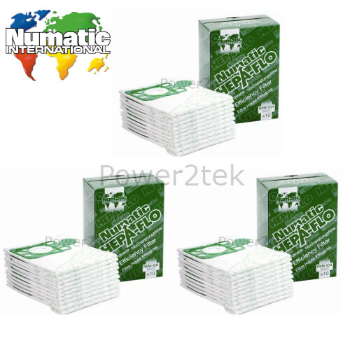 30x Genuine Numatic nvm-1ch Sacchetti per aspirapolvere per nrv-200t nrv200t-2 nrv204