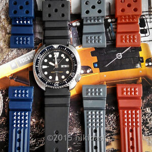 2x-22mm-rubber-M22-waffle-strap-SEIKO-200m-150m-diver-SPECIAL-PROMO-any-2-colors