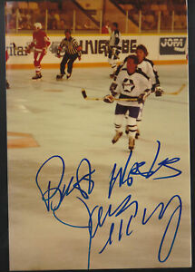 Jim McKenny  Old Timers Game Signed 3x5 Photo & AHL Rochester Americans Postcard