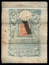 santino incisione 1844 MADONNA DI LORETO con RELIQUIA