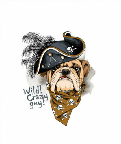 Singel Jersey panel Bulldog 56x70 cm Wild Crazy Guy sustancia