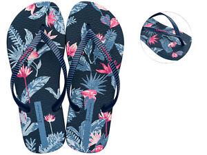 Ipanema-Toe-Separators-Bathing-Shoe-I-Love-Tropical-Fem-Blue-NEW
