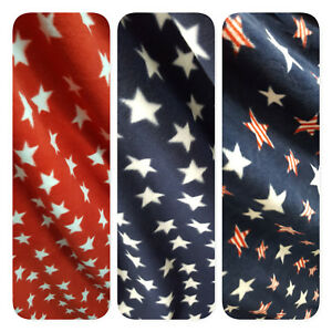 PATRIOTIC-STARS-Print-Fleece-Fabric-60-034-by-the-yard-WHITE-RED-NAVY-MIXED