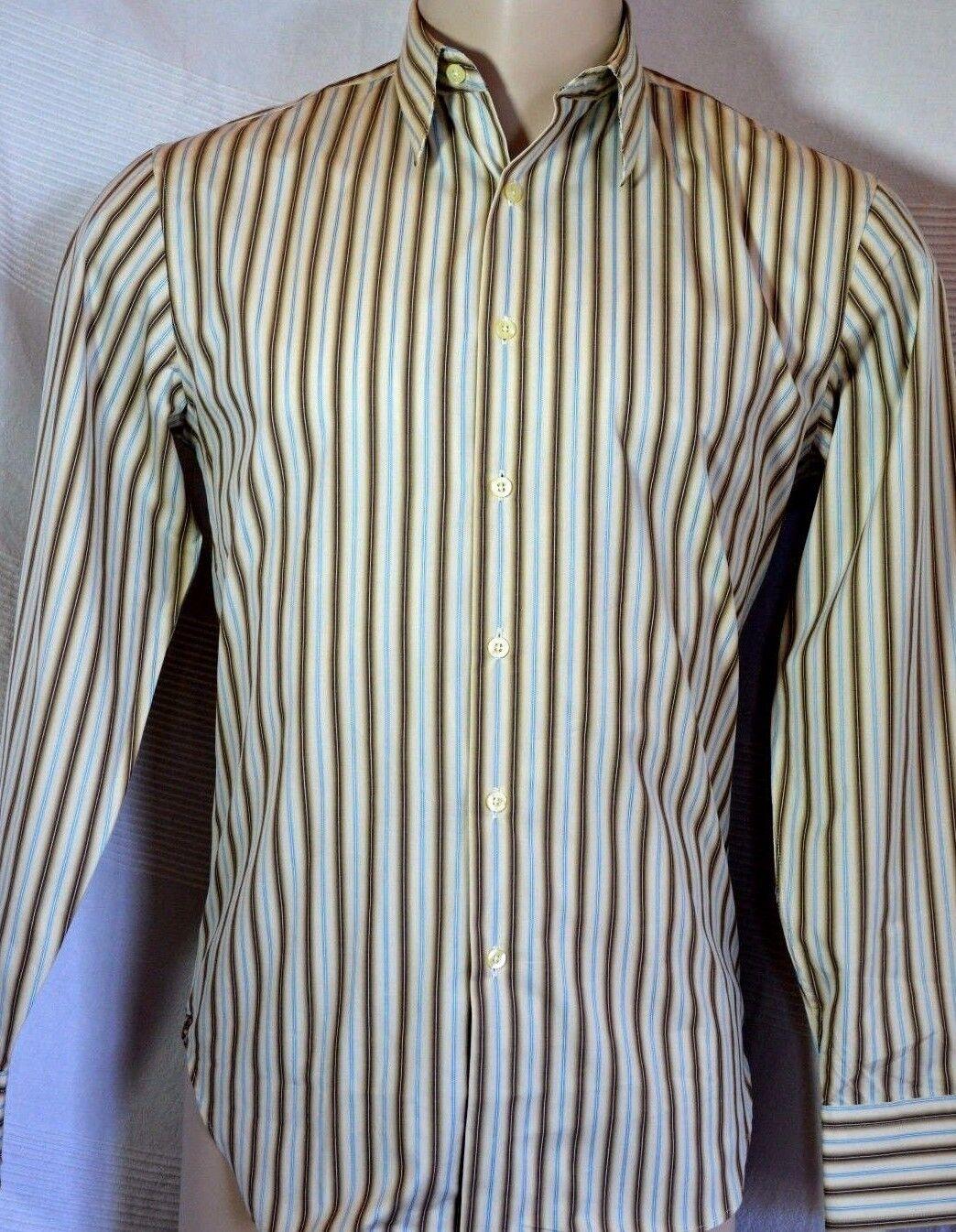 PAUL SMITH LONDON Couture Herren Ober Hemd mens shirt chemise S neu NEW