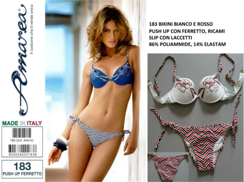 AMAREA MADE IN ITALY Costume da Bagno DONNA 2 Due Pezzi Bikini Moda Mare Fashion