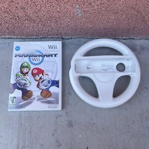 Mario Kart (Nintendo Wii, 2008) Complete Game With Authentic Wheel