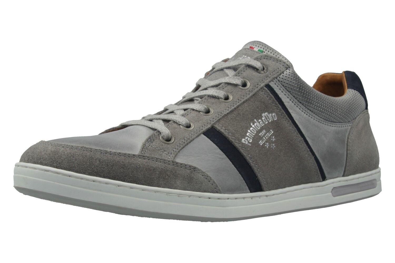 Pantofola d'Oro Sneaker in Übergrößen große Herrenschuhe Grau XXL