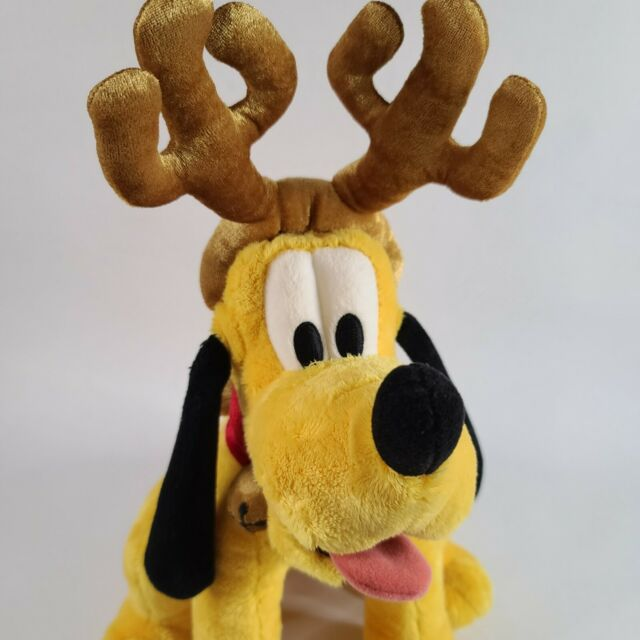 Disney Mickey Mouse Pluto Reindeer Ear Hat With Bell All Around It New With Tags