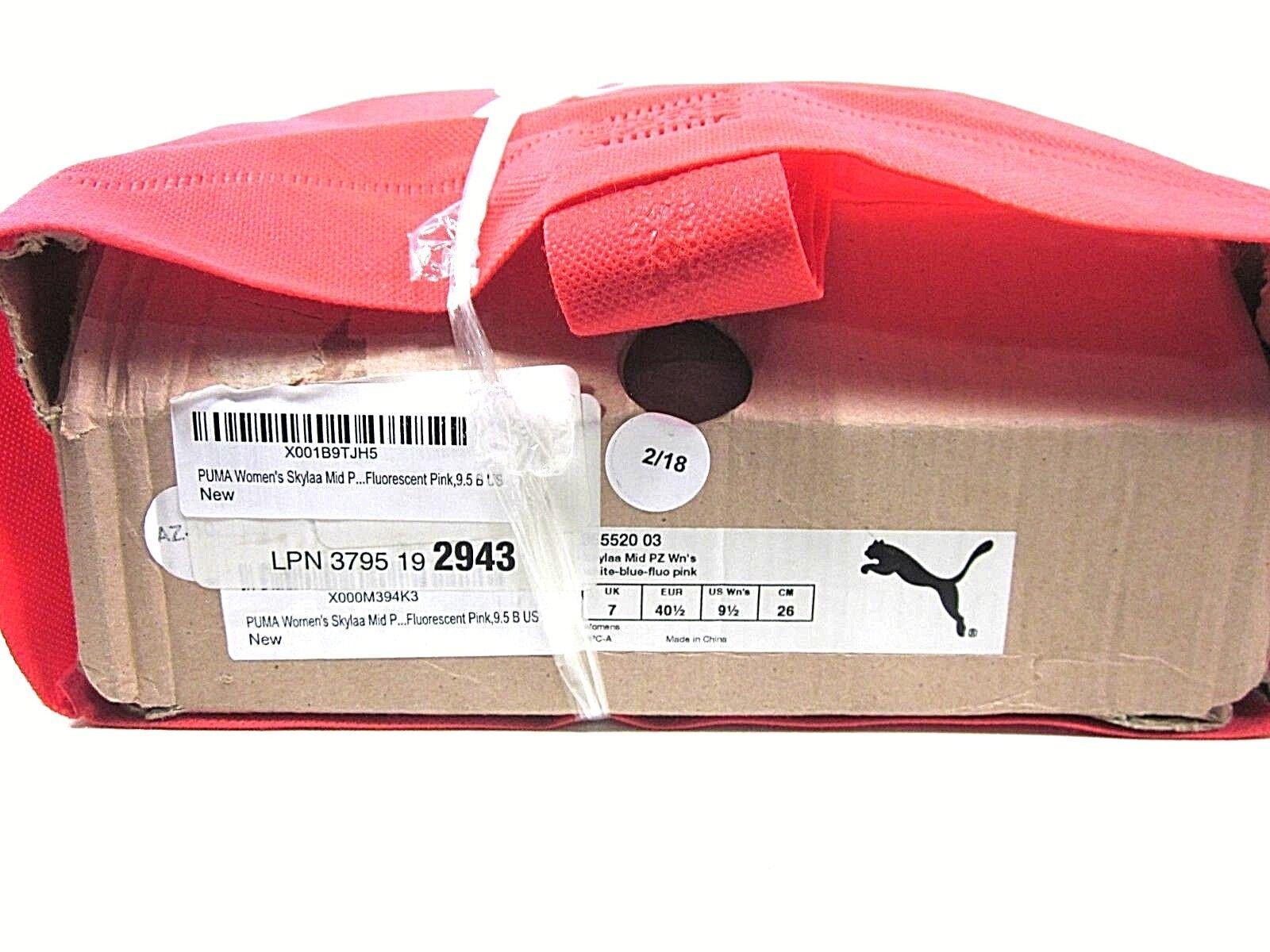 Puma skylaa mitte mitte mitte pz schuh frauen weiß / blau / rosa us - größe 9.5m neuen ohne - box fc654b