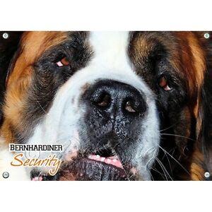 Dog Shield - St. Bernard Panneau d'avertissement résistant aux UV de haute qualité