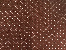 Vintage Cotton Quilt Fabric Brown Mini Print Wamsutta OTC by 1//2 Yard