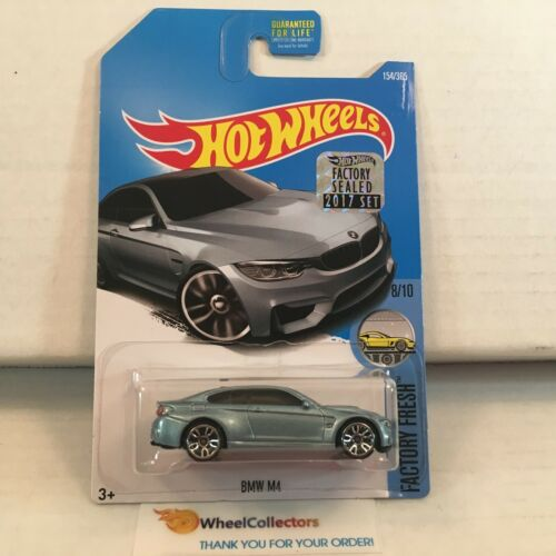 BMW M4 #154 * Light Blue * 2017 Hot Wheels Factory * E18
