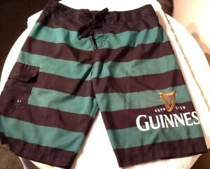 f9861cce85 Image is loading Guinness-Beer-Polyester-Board-Shorts-Swim-Trunks-Mens-