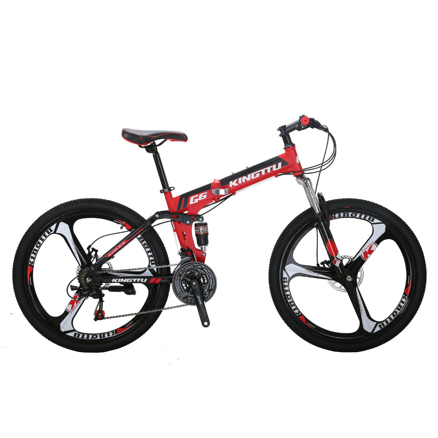 G6 26  Folding Mountain Bike Full Suspension Foldable frame 21 Speed Bicycle