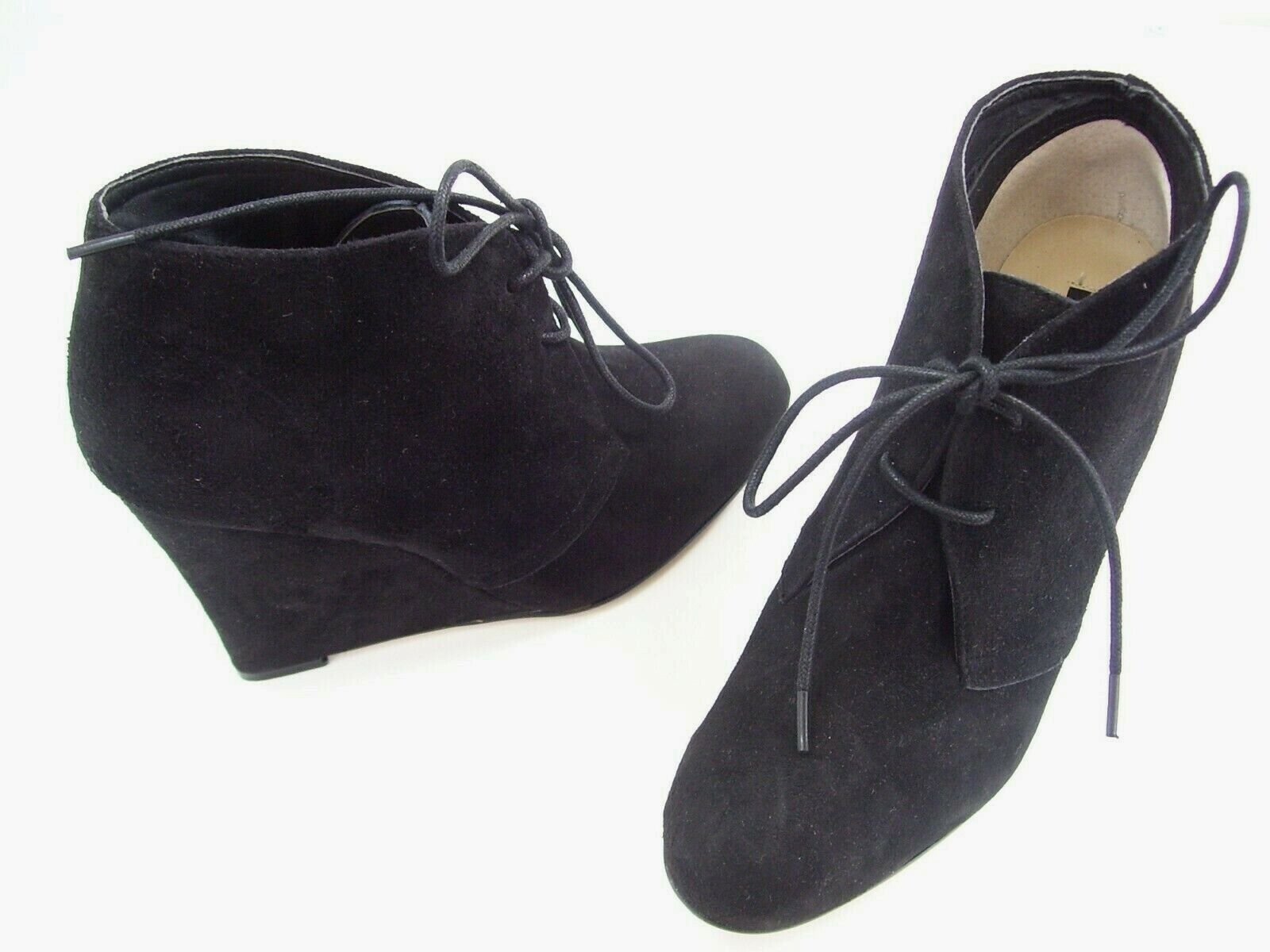 TONY BIANCO ANKLE bottes WEDGES LADIES DRESS chaussures SUEDE LEYLA noir Taille 7.5