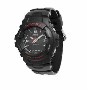 Casio-G-Shock-Black-RED-Classic-Watch-Analog-Digital-G100-1BV-Brand-NEW