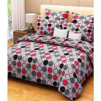 Homefabs 100% Cotton Double Bed Sheet With 2 Pillow Covers (Dbs 038)