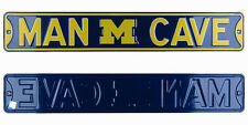 Michigan Wolverines Man Cave Authentic Steel Licensed Maize & Blue Street Sign