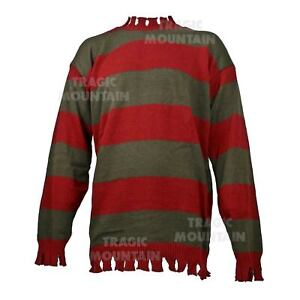 Adult-Mens-Nightmare-On-Elm-Freddy-Kruger-Halloween-Costume-Striped-Sweater-Top