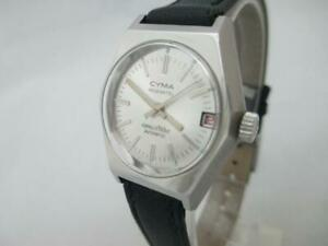 NOS-NEW-AUTOMATIC-WATER-RESIST-DATE-WOMEN-039-S-CYMA-NEUCHATEL-CONQUISTADOR-WATCH