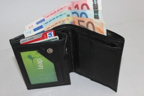 High Quality Luxury Mens Soft Leather Wallet With Large Zipped Coin Pocket*wlt