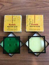 "2- Kodak Wratten Filters 3"" In Green And Yellow"