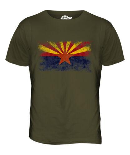 ARIZONA STATE DISTRESSED FLAG MENS T-SHIRT TOP ARIZONAN ARIZONIAN GIFT SHIRT
