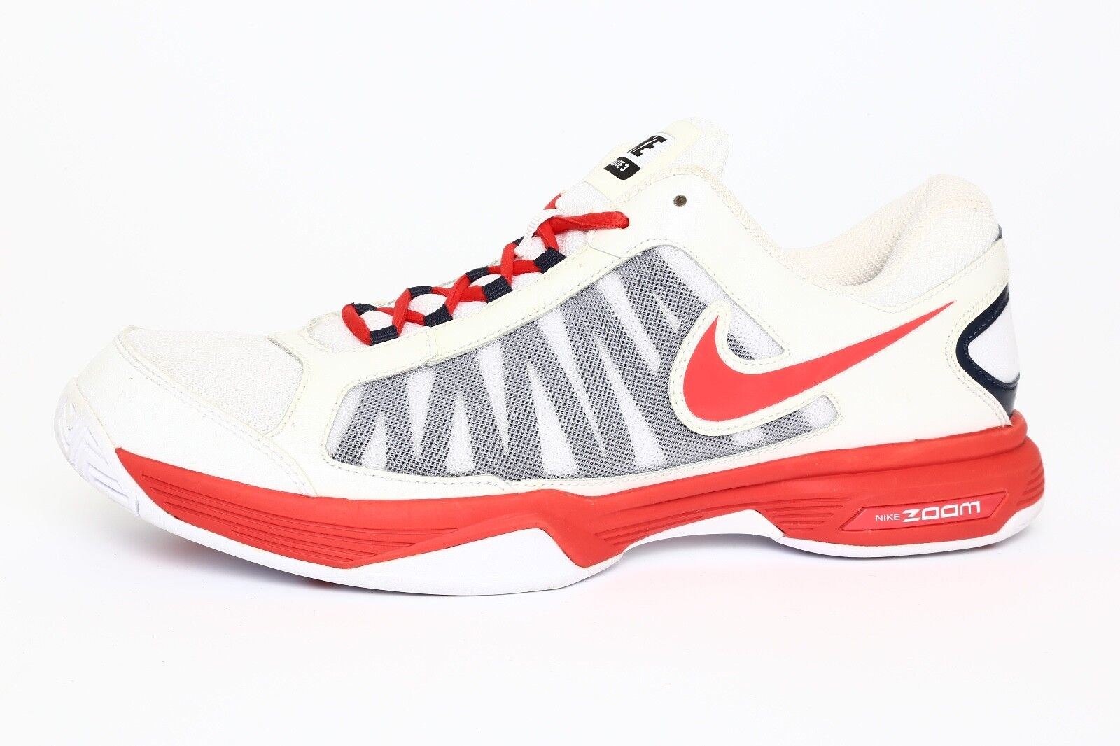 Nike Zoom Courtlite 3 Men's Red 2659 White Sneaker Sz 12 2659 Red 034cbc