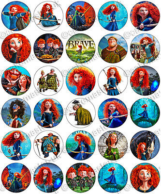 30 x Brave Merida Party Edible Rice Wafer Paper Cupcake Toppers