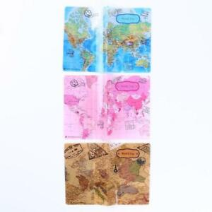 63faf847d Vintage World Map Cute Passport Cover Travel ID Holder Wallet ...