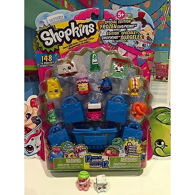 SHOPKINS SEASON 1 - 12 Pack *FROZEN* Pa Pizza- #125 & Soda Pops & Sugar Lump