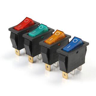 Interruttore pulsante NERO on//off switch 12V tondo 6A 250V