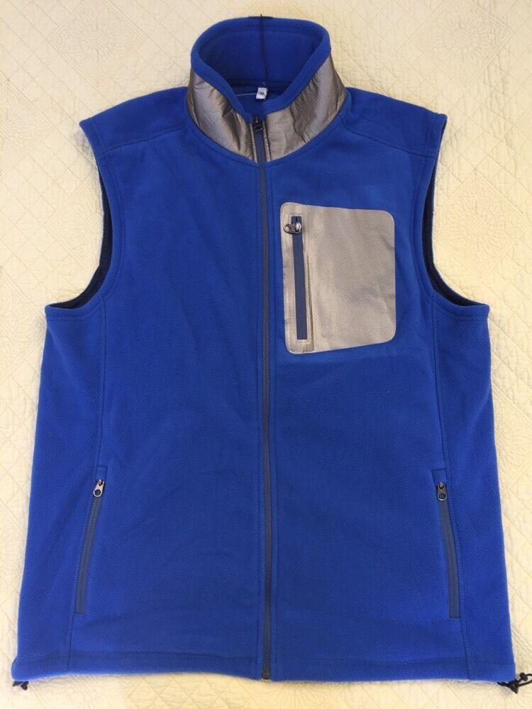 Vineyard Vines Royal Men's Fleece Reflective Vest Size Medium
