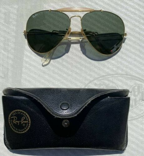 Vintage RAY BAN Sunglasses AVIATOR Gold OUTDOORSMA