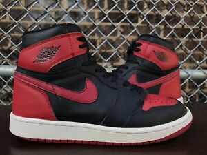 free shipping a2ea6 e179a Details about Nike Air Jordan 1 Bred Banned 2016 Retro High OG 100%  Authentic Size 7