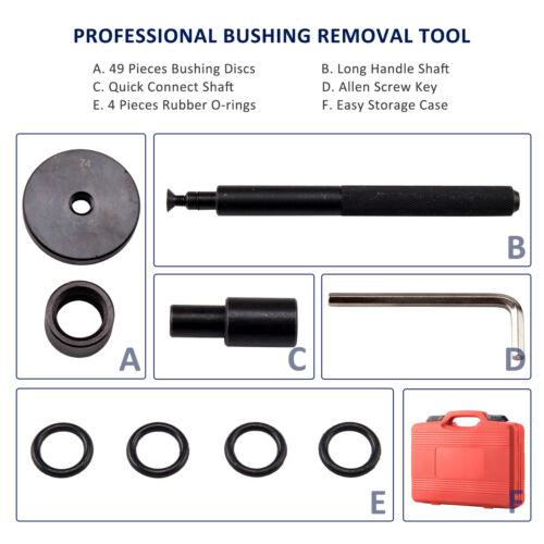52 PCs Seal Drive Set Bushing Removal Kit Bushing Driver Set w.Carrying Case