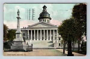 Columbia-SC-State-Capitol-Vintage-South-Carolina-Postcard-Z25