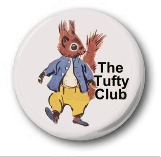"""Tufty Club - 25mm 1"""" Button Badge - Retro Kids Nostalgia"""