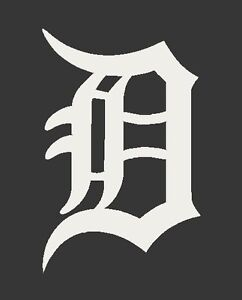 detroit tigers old english d decal sticker you pick color