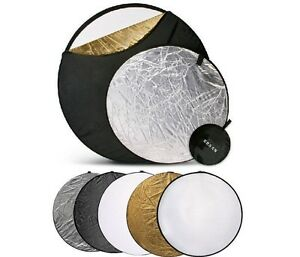 New 60cm 5 in 1 Collapsible disc Panel Reflector of camera Set round for SLR