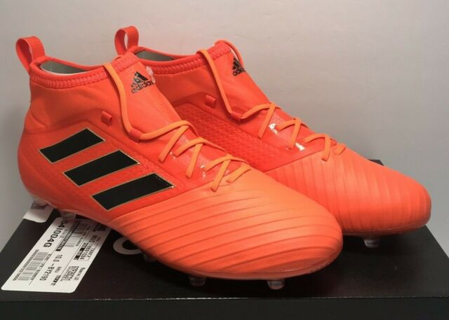 adidas Mens Size 10 Ace 17.2 FG Orange Black Soccer Cleats Shoes By2190